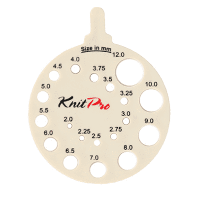 KnitPro Stickmätare Benvit (2-12mm)