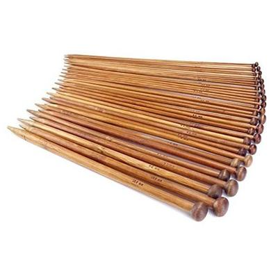 Jumperstickor Set, mörk bambu, 2-10mm, 18 stl, 25 cm