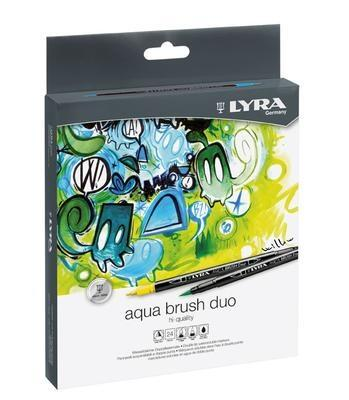 Lyra Aqua Brush Duo Tuschpennor, 24 st
