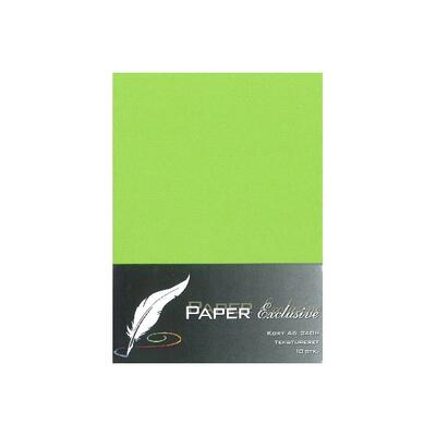 Paper Exclusive Dubbelkort A6, 240 g, 10 st Lime