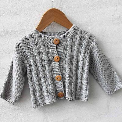 Go Handmade Cable Cardigan