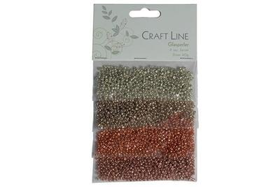 Craft Line Glaspärlor 2 mm, 4 x 10 g