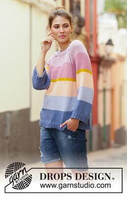 201-33 Sonora Sunrise Sweater by DROPS Design