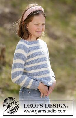 34-21 Sky Stripes Jumper by DROPS Design
