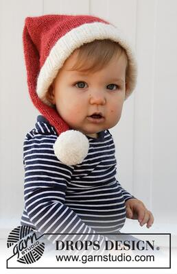 36-12 Sleepy Santa Hat by DROPS Design