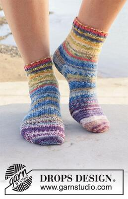 209-19 Festival Socks by DROPS Design