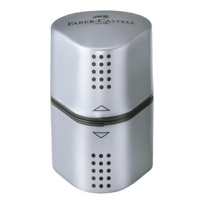 Faber-Castell Pencil Sharpener Grip Trio 2001 Silver