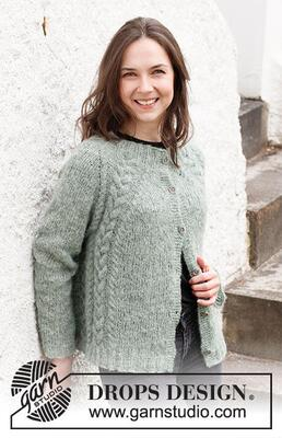 215-2 Climbing Ivy Cardigan by DROPS Design