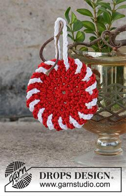 0-1477 Christmas Candy Ornament by DROPS Design