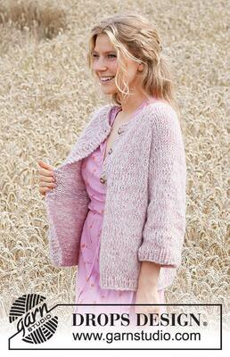 220-12 Cosy Rosy Cardigan by DROPS Design