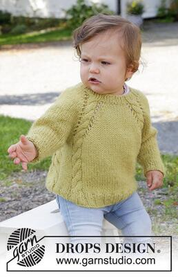 38-9 Baby Leaf Sweater by DROPS Design