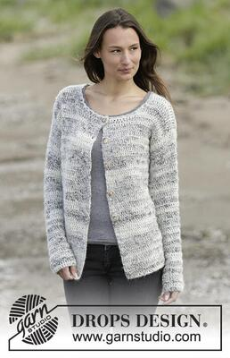 0-1255 Irish Cloud Cardigan by DROPS Design