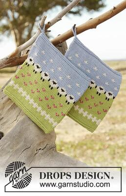 178-20 Summer Grazing Potholder by DROPS Design