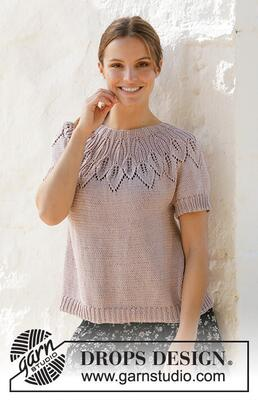 213-22 Lavender Charm Top by DROPS Design