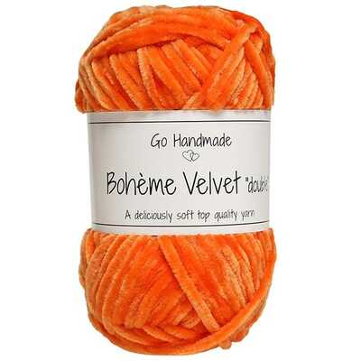 Go Handmade Bohéme Velvet Dobbelt 17670 Warm Orange