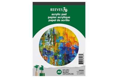 Reeves Akrylpappersblock A5, 15 ark