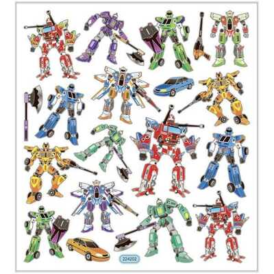 Stickers, Fantasi, Ark 15 x 16,5 cm, 1 ark Transformers
