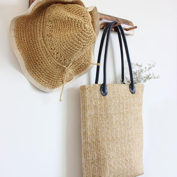Handtag till väskor i läder, Svart (2 st)